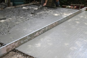 Construction d'une terrasse en béton