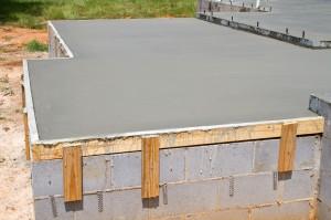 Construction d'une dalle en béton