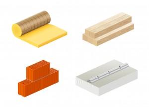 différents matériaux construction