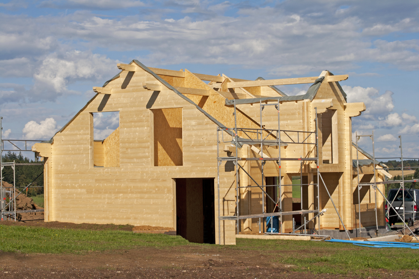 La construction d une maison en bois for Liste materiaux construction maison