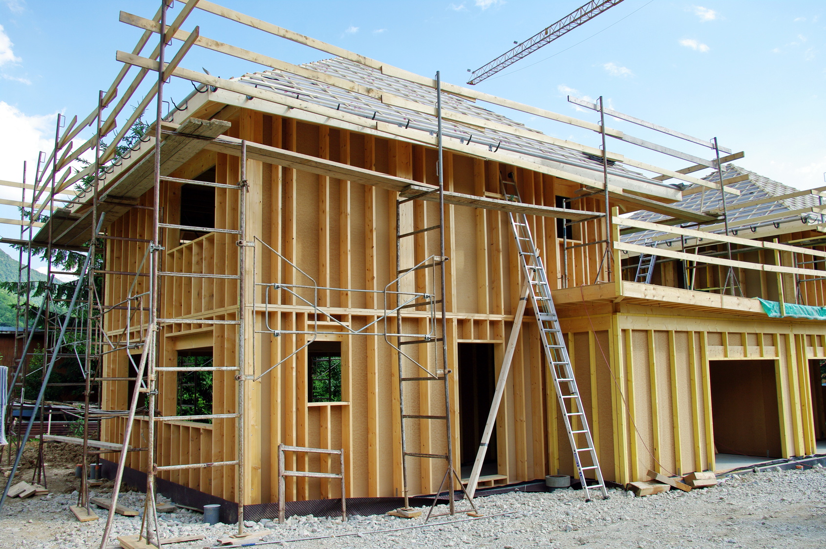 Les tapes de construction d une maison en kit for Construction en bois details