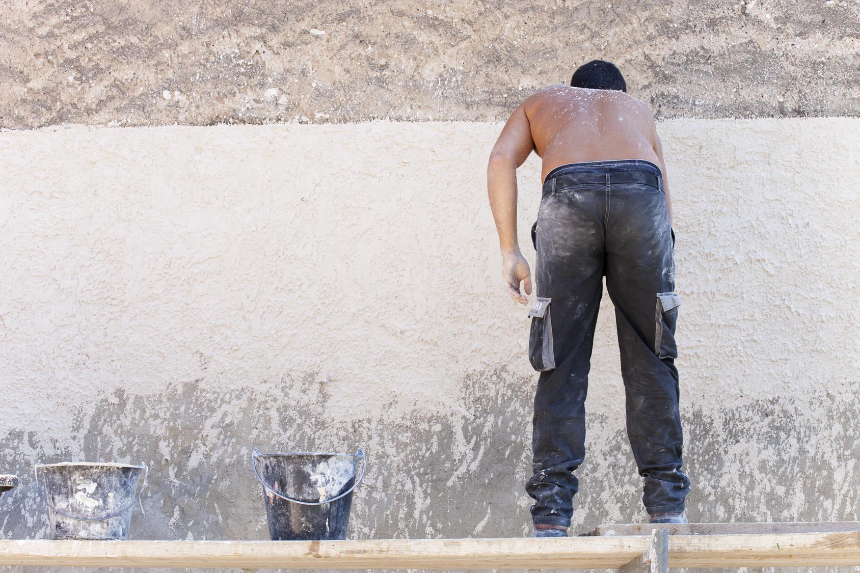 Enduit Blanc Mur Exterieur réaliser un enduit à la chaux