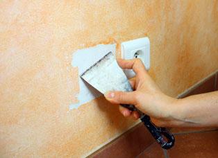 Rebouchage de trou dans un mur
