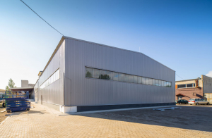 Construction hangar industriel