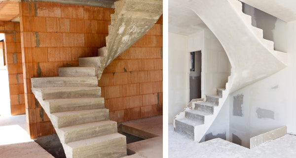 Coût d'un escalier en béton